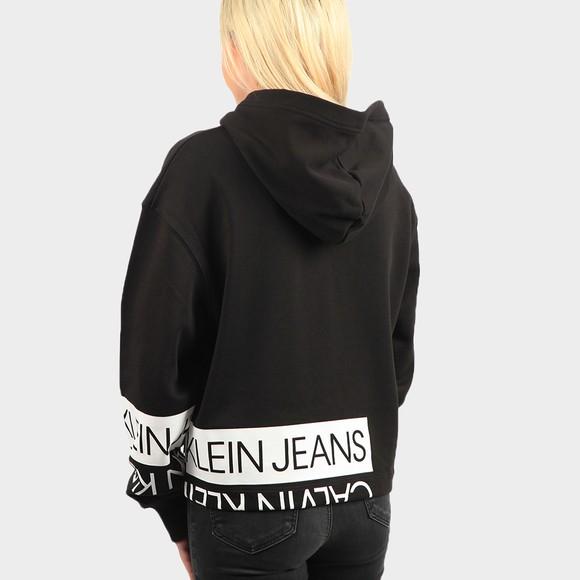 Calvin Klein Jeans Womens Black Mirrored Logo Hoody main image