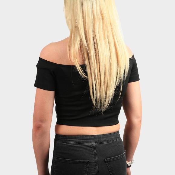 Calvin Klein Jeans Womens Black Milano Bardot Top main image
