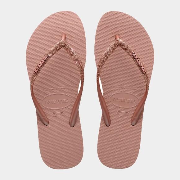 Havaianas Womens Pink Slim Glitter Flip Flop main image