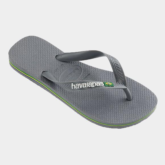 Havaianas Unisex Grey Brazil Logo Flip Flop