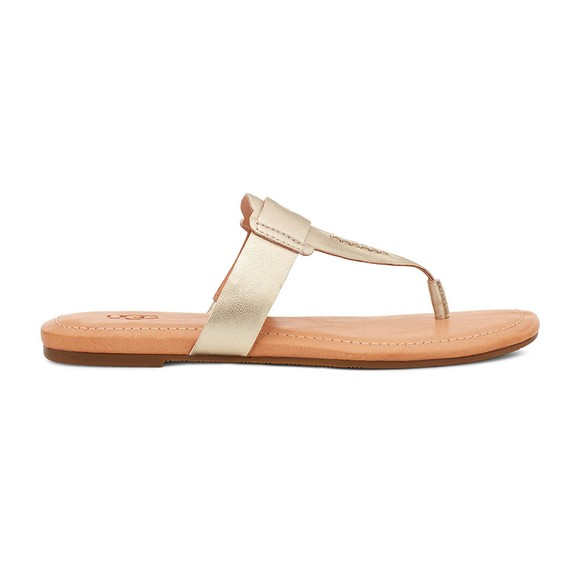 Ugg Womens Metallic Gaila Leather Flip Flop