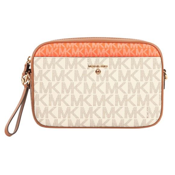 Michael Kors Womens Pink Jet Set Charm Logo Bag
