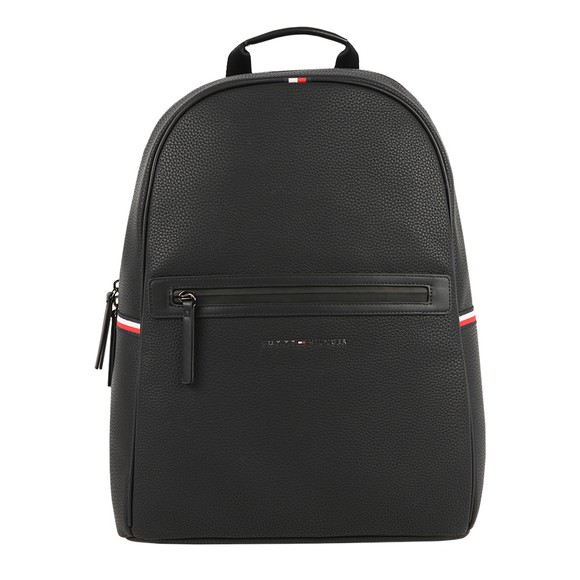 Tommy Hilfiger Mens Black Essential PU Backpack