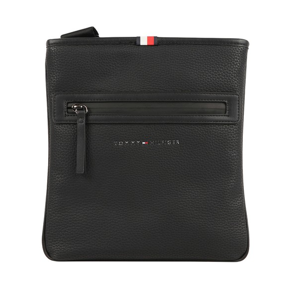 Tommy Hilfiger Mens Black Essential PU Crossover Bag