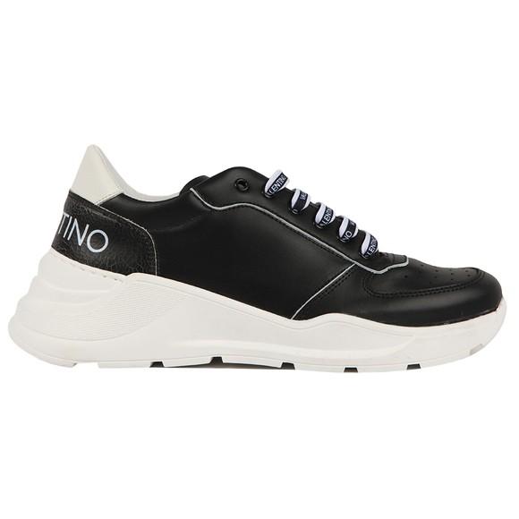 Valentino Shoes Mens Black Cracked Heel Trainer