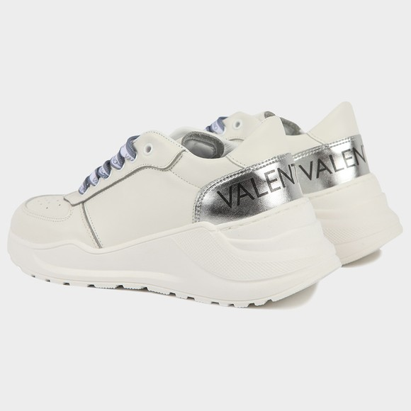 Valentino Shoes Womens White Large Heel Logo Trainer main image