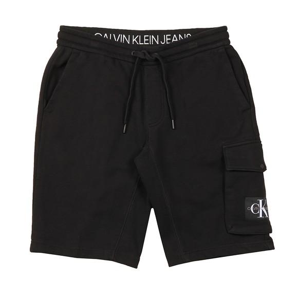 Calvin Klein Jeans Mens Black Monogram Sweat Short