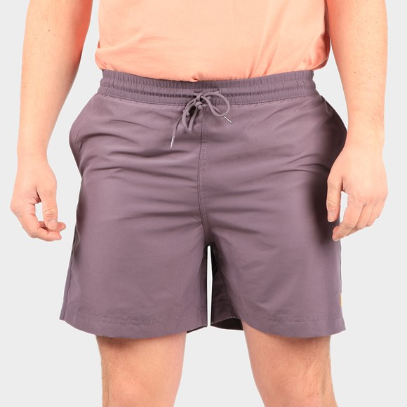 Carhartt WIP Mens Purple Chase Swim Short main image