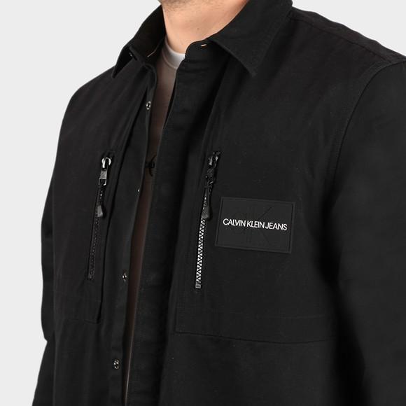 Calvin Klein Jeans Mens Black Mixed Media Overshirt main image