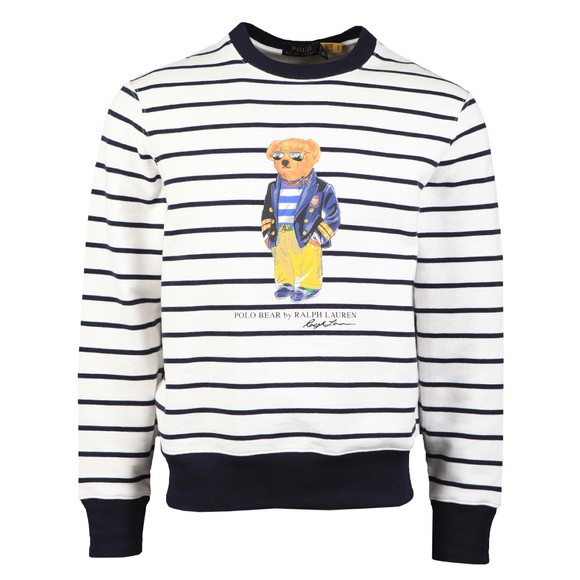 Polo Bear By Ralph Lauren Mens Multicoloured Stripe Bear Sweatshirt