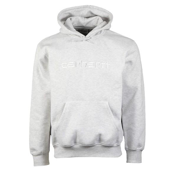 Carhartt WIP Mens Grey Hooded Carhartt Sweatshirt