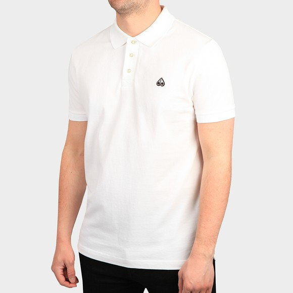 Moose Knuckles Mens White Polo Shirt