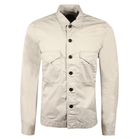 Pretty Green Mens Grey Button Through Overshirt main image