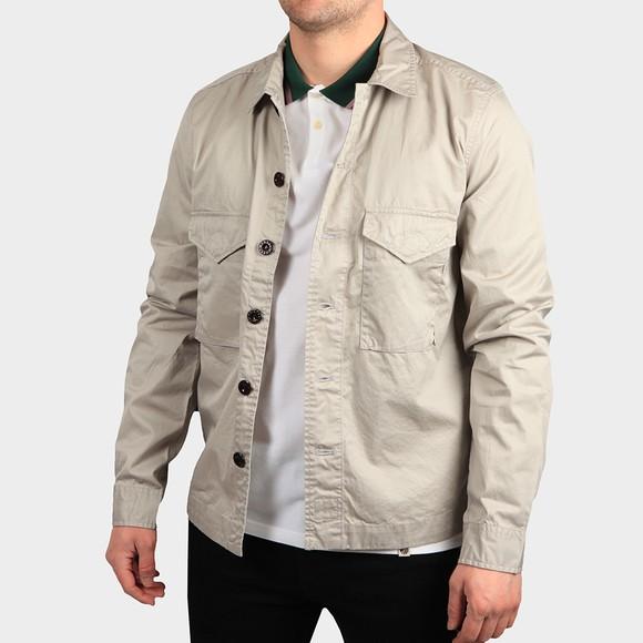Pretty Green Mens Grey Button Through Overshirt