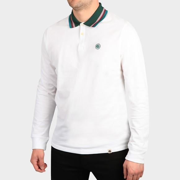 Pretty Green Mens White Long Sleeve Polo Shirt main image
