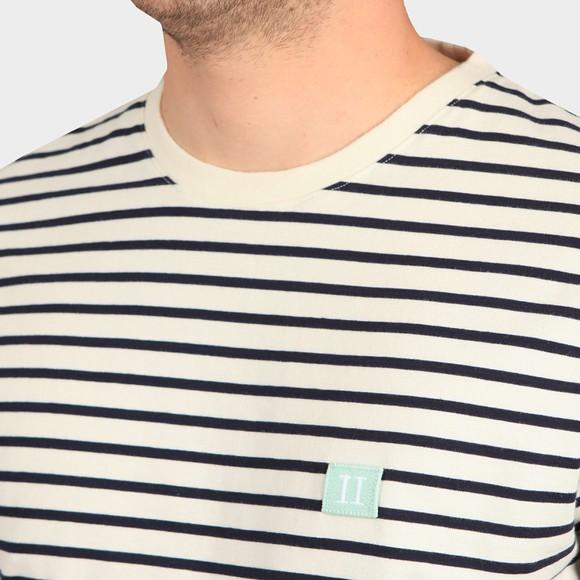 Les Deux Mens White Sailor Stripe Patch T-Shirt main image