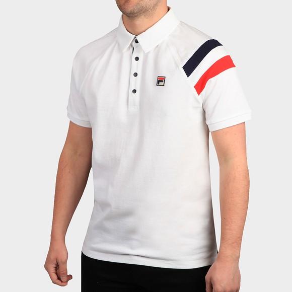 Fila Mens White Gabriel Polo Shirt