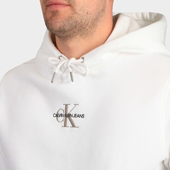 Calvin Klein Jeans Mens White New Iconic Essential Hoody main image
