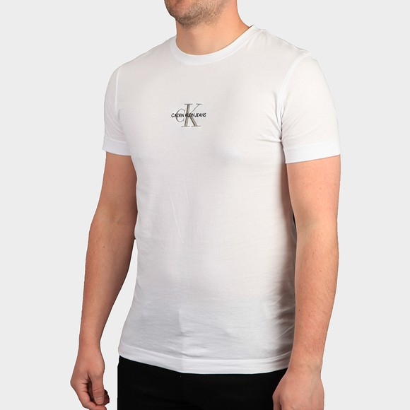 Calvin Klein Jeans Mens White Iconic Essential T-Shirt