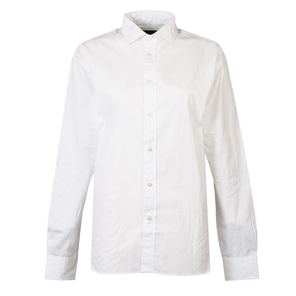 Polo Ralph Lauren Womens White Cotton Broadcloth Shirt
