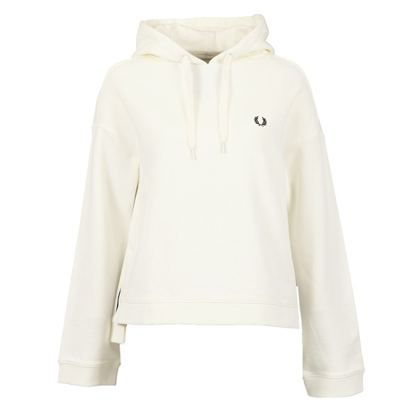 Fred Perry Womens Off-White Taped Hooded Sweatshirt