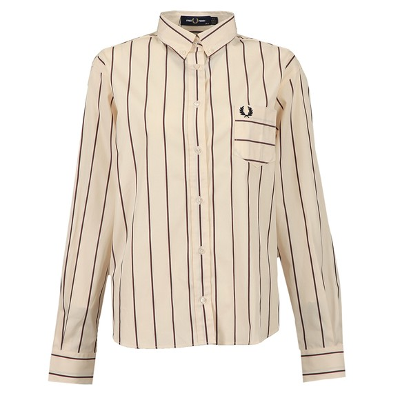 Fred Perry Womens Off-White Striped Shirt
