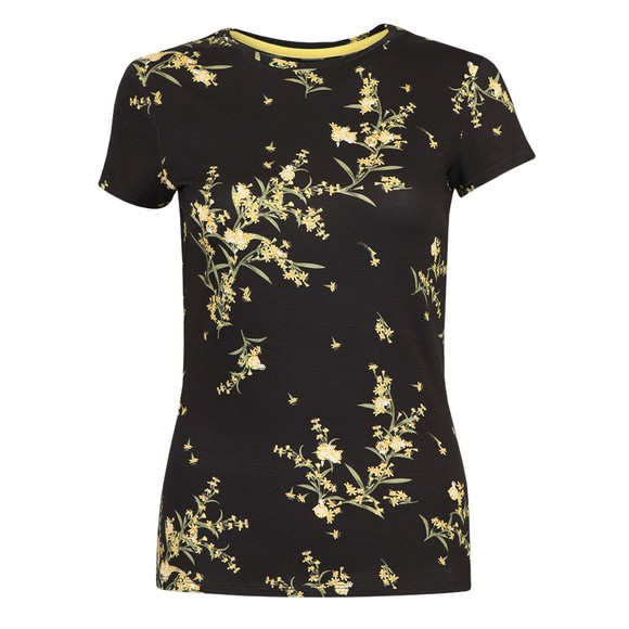 Ted Baker Womens Black Irennee Papyrus Printed Fitted T Shirt
