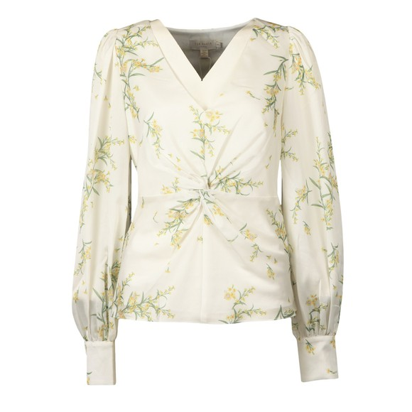 Ted Baker Womens Off-White Philiis Deco Print V Neck Top