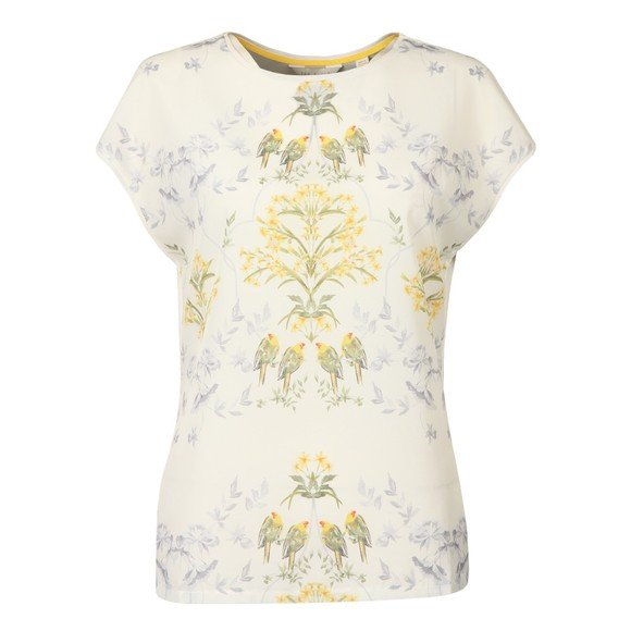 Ted Baker Womens Off-White Sonjja Papyrus Printed T-Shirt