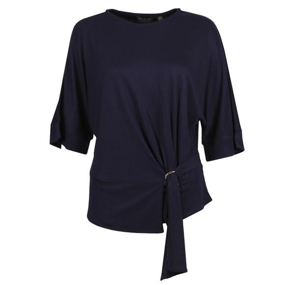 Ted Baker Womens Blue IIsobel Drape Jersey T-Shirt