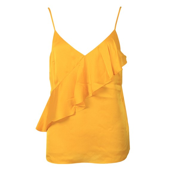 Ted Baker Womens Yellow Lulia Cami With a Symmetric Frill main image