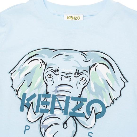 Kenzo Kids Boys Blue Elephant Logo T Shirt main image