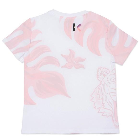 Kenzo Kids Girls White Elephant & Tiger T Shirt