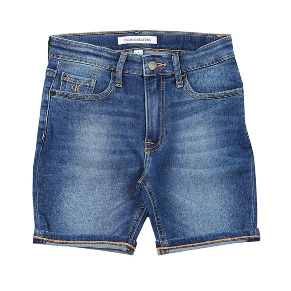 Calvin Klein Jeans Boys Blue Essential Regular Denim Short main image