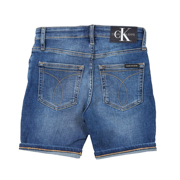 Calvin Klein Jeans Boys Blue Essential Regular Denim Short
