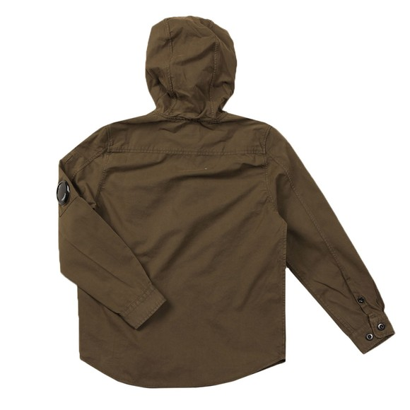 C.P. Company Undersixteen Boys Green Hooded Overshirt