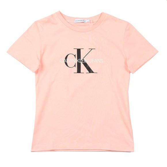 Calvin Klein Jeans Girls Pink Girls Monogram Logo T Shirt main image