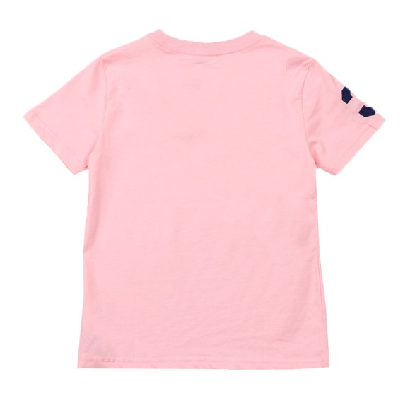 Polo Ralph Lauren Boys Pink Large Polo Player Crew T-Shirt