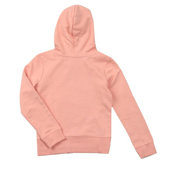 Calvin Klein Jeans Girls Pink Hybrid Logo Hoody