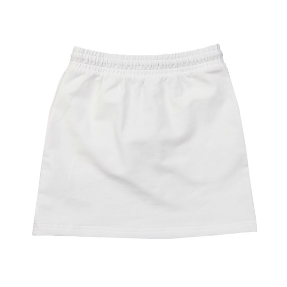 Tommy Hilfiger Kids Girls White Essential Logo Jersey Skirt