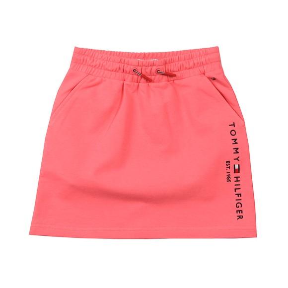 Tommy Hilfiger Kids Girls Pink Essential Logo Jersey Skirt