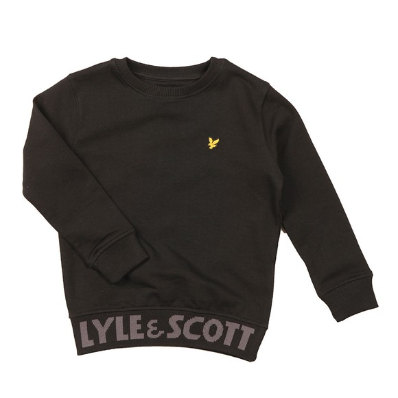 Lyle And Scott Junior Boys Black Waist Logo Crew Sweatshirt main image