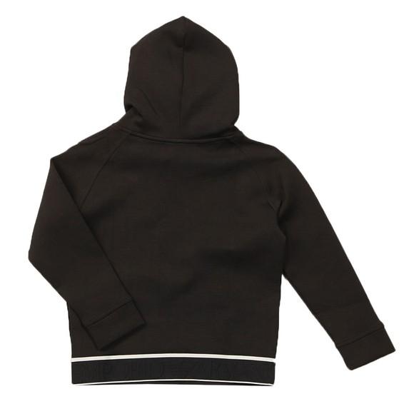 Emporio Armani Boys Black Waist Logo Overhead Hoody