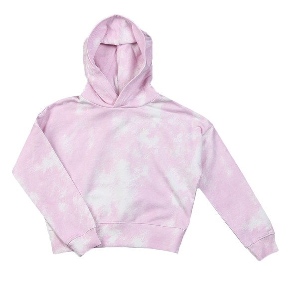 Calvin Klein Jeans Girls Pink Cloud AOP Relaxed Hoody