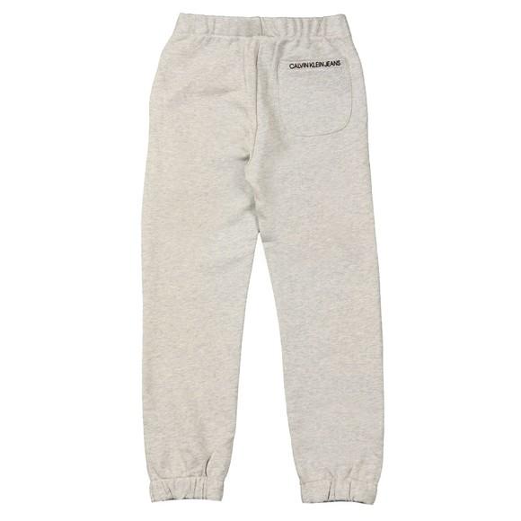 Calvin Klein Jeans Girls Grey Logo Relaxed Jogger