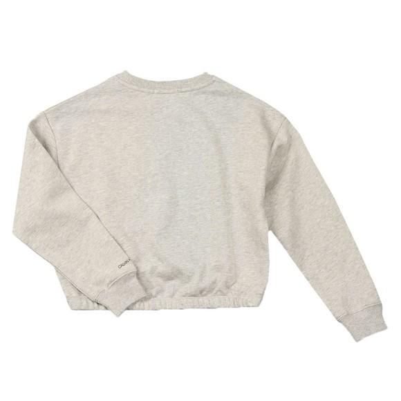 Calvin Klein Jeans Girls Grey Logo Boxy Sweatshirt