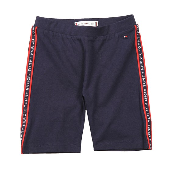 Tommy Hilfiger Kids Girls Blue Essential Tape Cycling Shorts