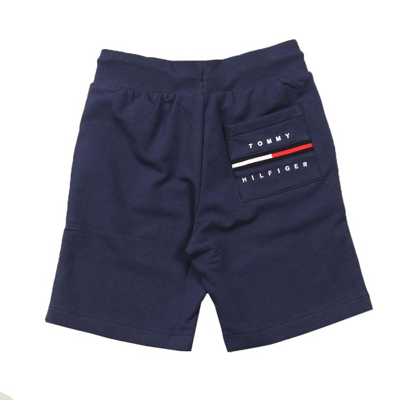 Tommy Hilfiger Kids Boys Blue Rib Insert Sweat Short main image