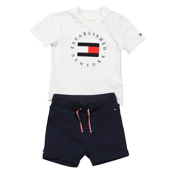 Tommy Hilfiger Kids Boys White Baby Established Sweat Short Set main image
