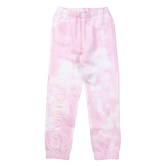 Calvin Klein Jeans Girls Pink Cloud Aop Sweatpant